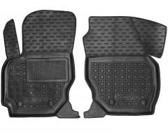 Коврики в салон передние для Volvo XC70 '07-16, резиновые, черные (AVTO-Gumm)
