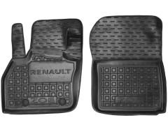 Коврики в салон передние для Renault Zoe '13-, резиновые, черные (AVTO-Gumm)