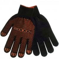 Перчатки черные, с резиновым вкраплением Rexxon