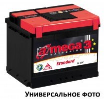 Автомобильный аккумулятор A-MEGA Standart 100Ач, правый плюс