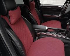 Накидки на передние сидения  АVторитет Премиум, бордовые
