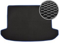 Коврик в багажник для Kia Sportage '16-, EVA-полимерный, черный с синей тесьмой (Kinetic)