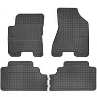 Коврики в салон для Kia Sportage '04-10 резиновые, черные (Frogum)