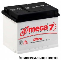 Автомобильный аккумулятор A-MEGA Ultra 105Ач, правый плюс
