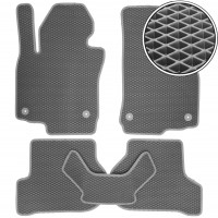 Коврики в салон для Volkswagen Golf VI '09-12, EVA-полимерные, серые (Kinetic)