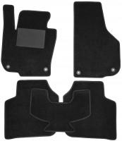Коврики в салон для Skoda Superb '09-14, текстильные, черные (Optimal)