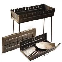 Мангал-чемодан раскладной на 12 шампуров