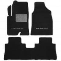 Коврики в салон для Chevrolet Captiva с 2010 текстильные, серые (Люкс)