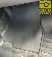Фото 6 - Коврики передние в салон для Ford F-150 '14- резиновые (Stingray)