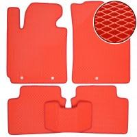 Коврики в салон для Hyundai Veloster '11-, EVA-полимерные, красные (Kinetic)