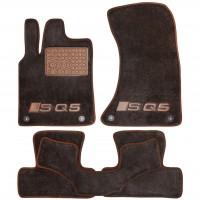 Textile-Pro Коврики в салон для Audi Q5 '08-17 S-Line, текстильные, коричневые (Премиум) 4 клипсы
