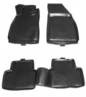 Коврики в салон для Chevrolet Malibu '12- полиуретановые, черные (L.Locker)