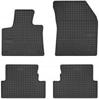 Коврики в салон для Peugeot 3008 '17- резиновые, черные (Frogum)