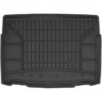 Коврик в багажник для Citroen C3 Aircross '17-, нижний, резиновый, черный (Frogum)