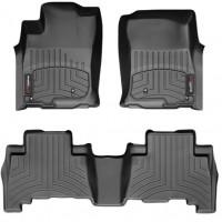 Коврики в салон для Hyundai Kona '17-, черные, резиновые 3D (WeatherTech)
