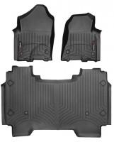 Коврики в салон для Dodge Ram '04-, черные, резиновые 3D (WeatherTech)