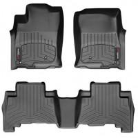 Коврики в салон для Volkswagen Touareg '18-, черные, резиновые 3D (WeatherTech)
