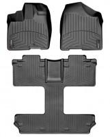Коврики в салон для Toyota Sienna '10-12, черные, резиновые 3D (WeatherTech)