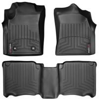 Коврики в салон для Toyota Fortuner '13-14, черные, резиновые 3D (WeatherTech)