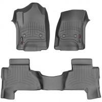 Коврики в салон для Cadillac Escalade '15-, черные, резиновые 3D (WeatherTech)