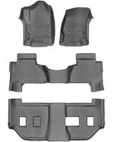 Коврики в салон для Cadillac Escalade '15- (3 ряда) черные, резиновые 3D (WeatherTech)