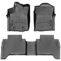 Коврики в салон для Toyota Tacoma '16-17, черные, резиновые 3D (WeatherTech)
