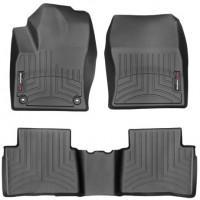 Коврики в салон для Toyota Prius '09-15, черные, резиновые 3D (WeatherTech)