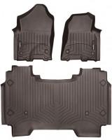 Коврики в салон для Dodge Ram '04-, коричневые, резиновые 3D (WeatherTech)
