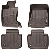 Коврики в салон для Lexus GS с 2012 AWD коричневые, резиновые 3D (WeatherTech)