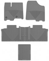 Коврики в салон для Toyota Sienna '13- (3 ряда) серые, резиновые (WeatherTech)