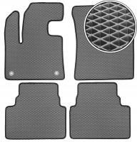 Коврики в салон для Citroen C5 Aircross '17-, EVA-полимерные, серые с черной тесьмой (Kinetic)