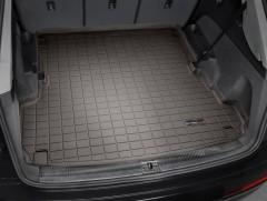 Коврик в багажник для Audi Q7 '15-, длинный, резиновый, коричневый (WeatherTech)