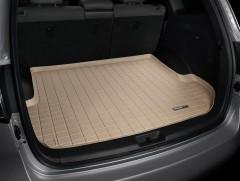 Коврик в багажник для Hyundai Santa Fe '10-12 CM (5 мест) резиновый, бежевый (WeatherTech)