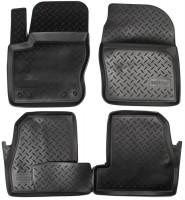 Коврики в салон для Ford Focus III '11- полиуретановые, черные (Nor-Plast)