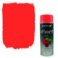 Аэрозольная флуоресцентная эмаль Motip Deco Effect красно-оранжевая