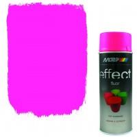 Аэрозольная флуоресцентная эмаль Motip Deco Effect розовая