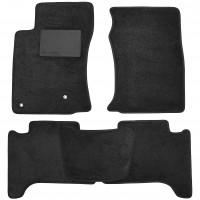 Коврики в салон для Toyota LC Prado 120 '03-09, текстильные, черные (Optimal)