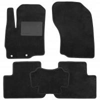 Коврики в салон для Mitsubishi Outlander '12-, текстильные, черные (Optimal)