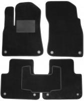 Коврики в салон для Volkswagen Touareg '18-, текстильные, черные (Optimal)