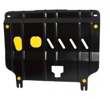 Защита картера двигателя для Kia Rio '11- (2мм) 1,4, 1,6 бензин, АКПП/МКПП