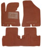 Коврики в салон для Kia Sportage '10-15  текстильные, терракотовые (Премиум)