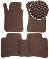 Коврики в салон для Toyota Fortuner '05-14, EVA-полимерные, коричневые (Kinetic)