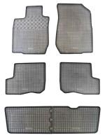 Коврики в салон для Dacia Logan MCV '06-12/Largus 12- резиновые, черные (Rigum) 1+2+3 ряд