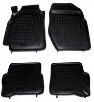Коврики в салон для Nissan Almera '00-06 резиновые, черные (Rezawplast)