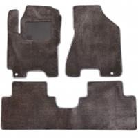 Коврики в салон для Kia Sportage 2004 - 2010, текстильные, серые (Optimal)