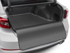 Коврик в багажник для Tesla Model S '16-18, задний, резиновый, с накидкой (WeatherTech) черный