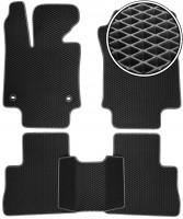 Коврики в салон для Toyota RAV4  '19-, EVA-полимерные, черные с серой тесьмой (Kinetic)