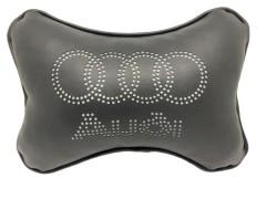 Подушка на подголовник Audi черная