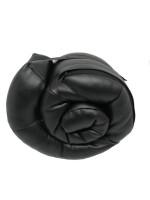 Фото 2 - Подушка-подголовник для путешествий, эко-кожа, бежевая
