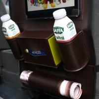 Фото 3 - Органайзер на спинку сиденья автомобиля, коричневый